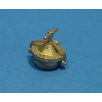 O SCALE BRASS ROUND OIL HATCH FOR LARGE SOUTHERN PACIFIC MODERN TENDERS