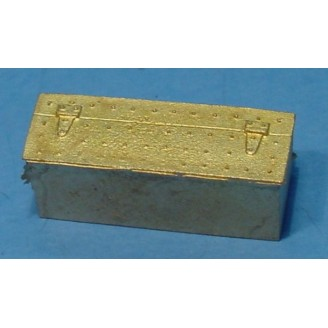 O SCALE On3 On30 BRASS MODERN BOTTOM MOUNT TENDER TOOL BOX