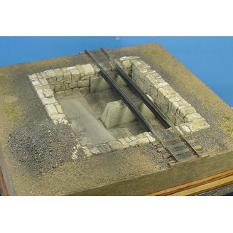 S SCALE Sn3, Sn2 STONE ASHPIT FOR LOCOMOTIVE FACILITY