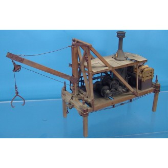 O SCALE SURREY PARKER LOG LOADER KIT LESS WINCH