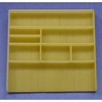 O/On3/On30 DETAIL PARTS #O531 EMPTY SHELVING UNIT