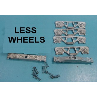 O SCALE ROLLER BEARING SPRUNG FREIGHT CAR TRUCKS LESS WHEELS