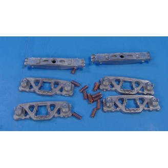 O SCALE ANDREWS FREIGHT CAR TRUCKS LESS WHEELS