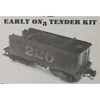 On3/On30 EARLY FLAIR SIDE C-16 TENDER KIT