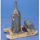 O SCALE PORTABLE BOILER ON SKIDS