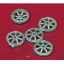 O SCALE SMALL WAGON OR CART WHEELS
