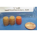 O SCALE SMALL WOOD BARRELS