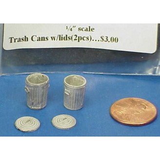 O SCALE SMALL TRASH CANS