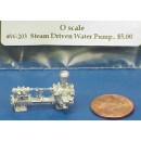 O SCALE STEAM DRIVEN WATER PUMP