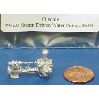 O SCALE STEAM DRIVEN WATER PUMP