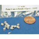 O SCALE PAINT CANS WITH BRUSH