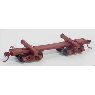 HO SCALE SKELETON LOG CARS 3 PACK