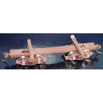 Sn3 20' MICH-CAL SKELETON LOG CAR 2 PACK