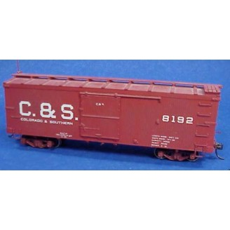 Sn3 C&S / RGS STEEL UNDERFRAME BOX CAR KIT
