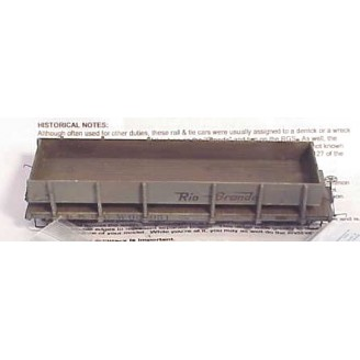 Sn3 D&RGW MOW RAIL AND TIE FLAT CAR