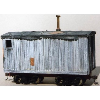 On3/On30 ELY-THOMAS CAMP CAR #2 CASTINGS SET