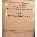 On30 18' WOOD GENERAL PURPOSE FLAT CAR KIT