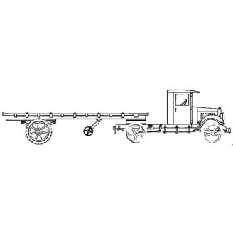 KLEIBER CLOSED CAB SEMI WITH FLATBED TRAILER