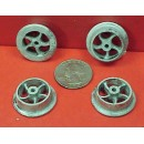 G SCALE SMALL PUSH CAR OR MINE CAR WHEELS