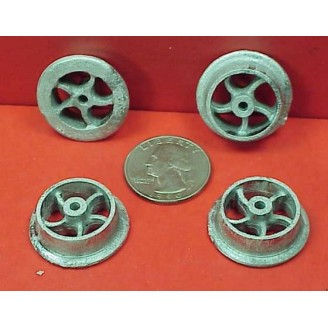 G SCALE SMALL PUSH CAR OR MINE CAR WHEELS