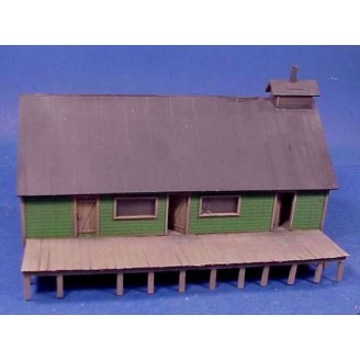 O SCALE WEST SIDE LUMBER CO. CAMP COOKHOUSE
