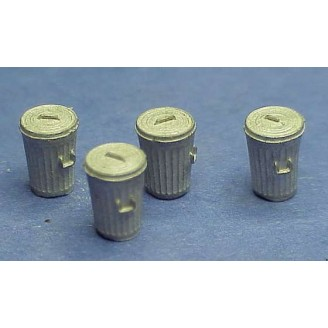 HO SCALE LARGE TRASH CANS