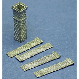 HO SCALE TALL CHIMNEYS