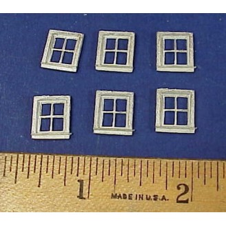 HO SCALE MEDIUM 4 PANE WINDOWS