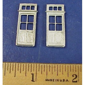 HO SCALE DOORS WITH TRANSOM