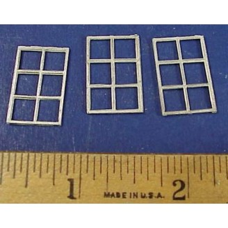 HO SCALE 6 PANE SKYLIGHT WINDOWS