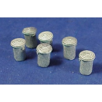 HO SCALE TRASH CANS