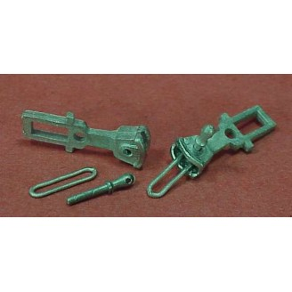 O SCALE WORKING LINK & PIN COUPLERS