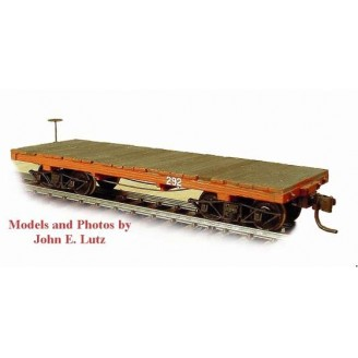 HOn3 WEST SIDE LUMBER 24' BASIC FLAT CAR