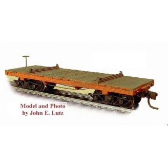 HOn3 WEST SIDE LUMBER 24' LOGGING FLAT CAR