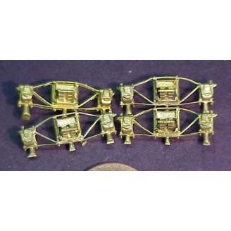 HO PFM/PIA SP M-4 TENDER TRUCK SIDEFRAMES