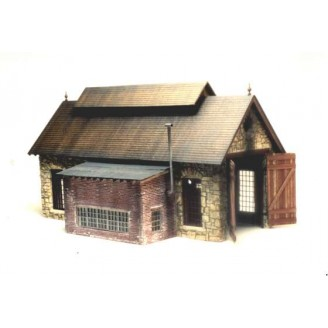 S/Sn3 SINGLE STALL STONE ENGINE HOUSE KIT