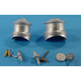 On3/On30 SMALL LOCO OR SHAY FLUTED DOME SET