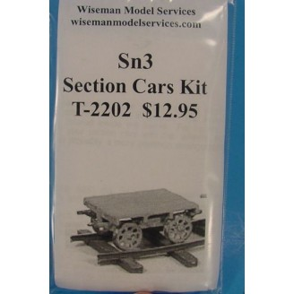 Sn3 SECTION CARS/SPEEDER TRAILERS KIT