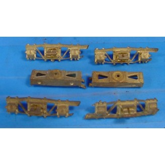 K-1050 D&RGW/RGS LEAF SPRING CABOOSE TRUCKS WITH BRAKE BEAMS