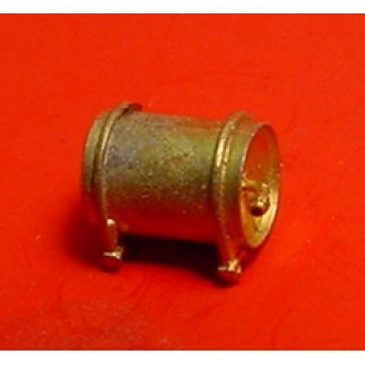 O SCALE SMALL AIR TANK WITH CONCAVE ENDS