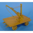O SCALE SPEEDER TRAILER WITH CRANE