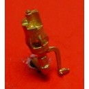 O SCALE 6 CHIME WHISTLE, FIREMAN'S SIDE MOUNT, ARM DOWN