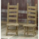 S SCALE CHAIRS, 2 PER PACKAGE