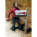 S SCALE RURAL MAIL BOXES QTY=2