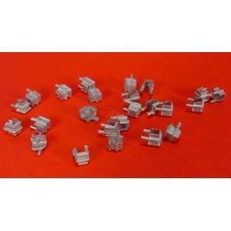O SCALE 2 BOLT STAKE POCKET CASTINGS QTY=24