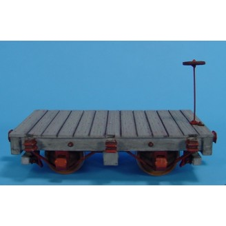 On3/On30 BACKWOODS LOGGING OR MINING 4 WHEEL FLAT CAR KIT