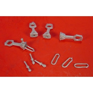 On3/On30 MEDIUM SHANK LINK & PIN COUPLERS FOR KADEE #5 STYLE BOX