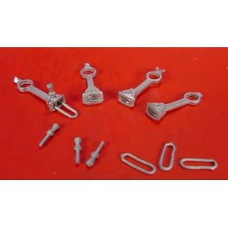 On3/On30 LONG SHANK LINK & PIN COUPLERS FOR BACHMANN PORTERS, SHAYS ETC.
