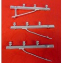 O SCALE COMMUNICATION POLE ALLEY STYLE 3 WIRE CROSS ARMS