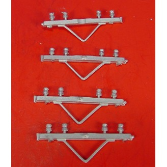 O SCALE COMMUNICATION POLE 4 WIRE CROSS ARMS